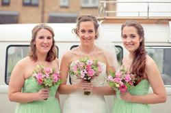 Caz and bridesmaids