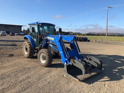 Used Powerstar 75 4WD Cab Tractor-Loader w/ 6 Implements 74HP 824 hrs