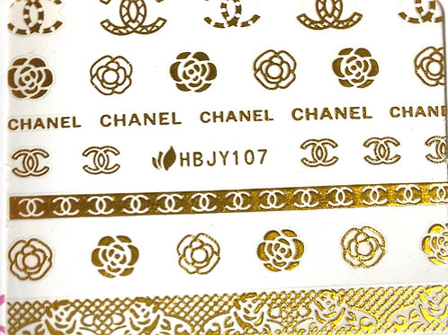 High End Luxury Decal (Gold) (HBJY107)