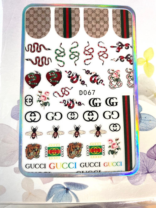 High End Luxury Brand Snake Stickers (D067)