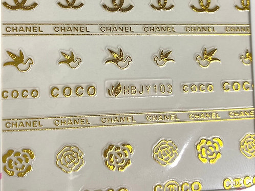 HIGH END LUXURY Stickers (Gold) (HBJY103)