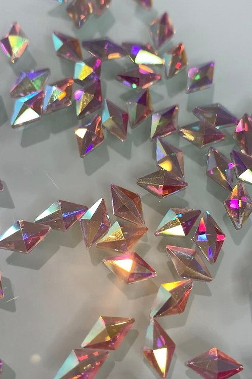 High Quality Medium Rhombus Crystal AB