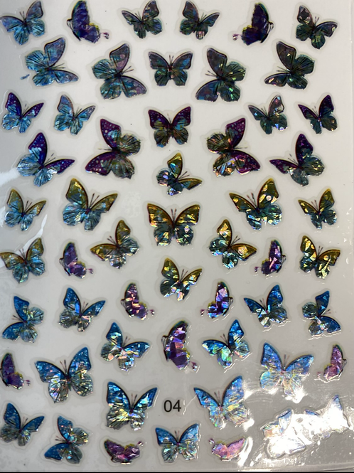 High End Holographic Butterfly Stickers (04)