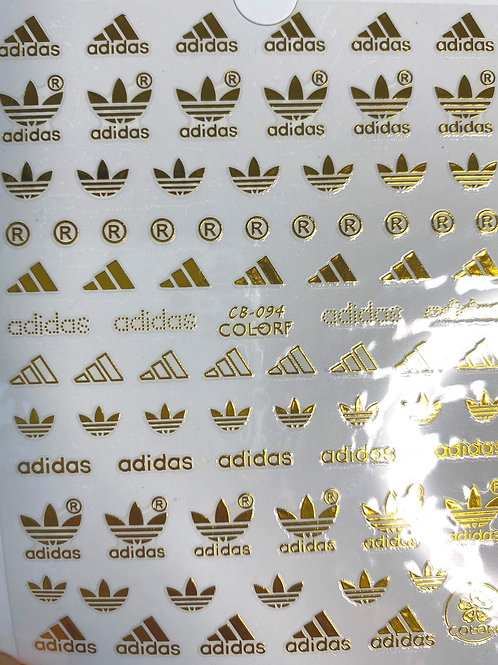 High End Luxury Brand Stickers (Gold)