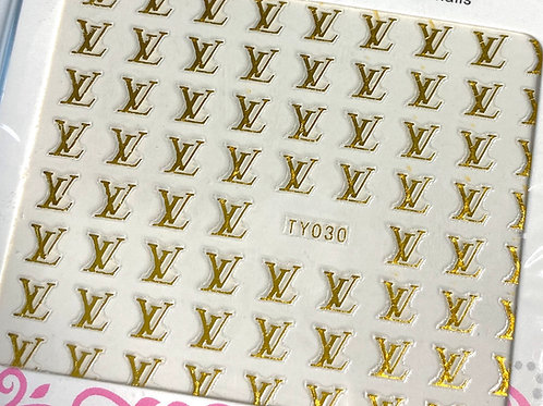 High End Luxury Sticker (Gold) (TY030)