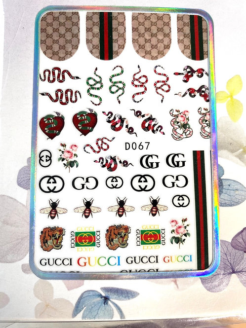 Hugh End Luxury Brand Stickers (Snakes & Bees) (D067)