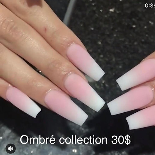 Pink & White Ombré Collection