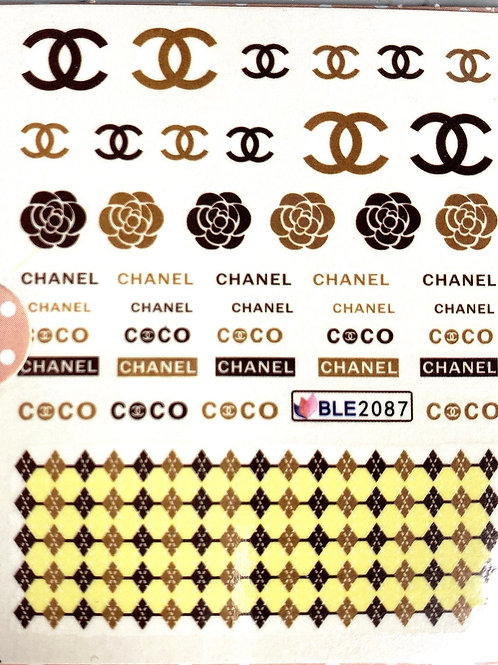 HIGH END LUXURY( brown and black) water decal (BLE2087)