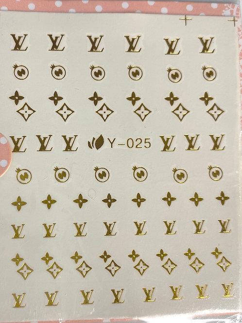 High End Luxury Decals (Gold) (Y025)