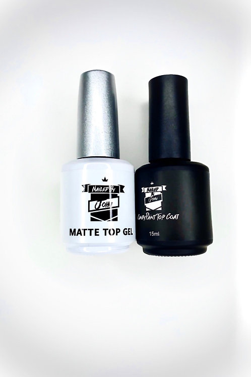 Matte and shiny top coat combination