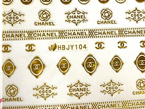 High End Luxury Stickers (Gold) (HBJY104)