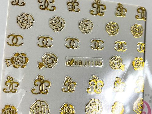 HIGH END LUXURY Sticker (gold) (HBJY105)