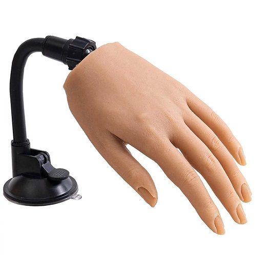 Realistic silicone hand adjustable fingers (nail trainer)