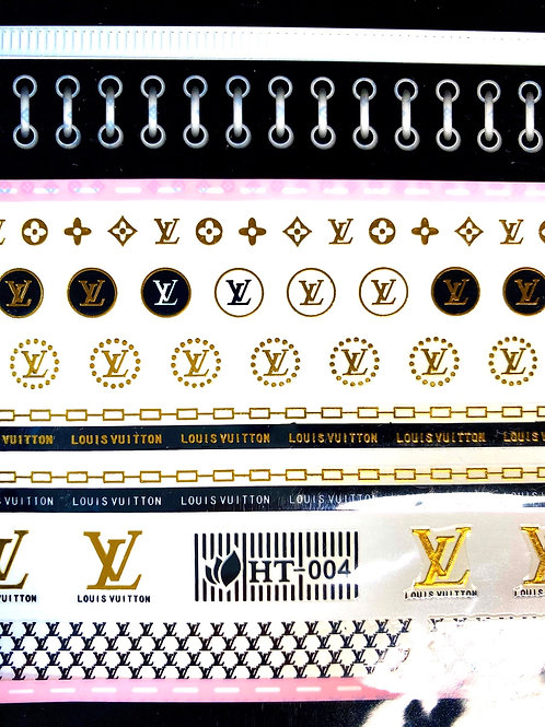 High End Luxury Stickers (gold and black) Large sheet