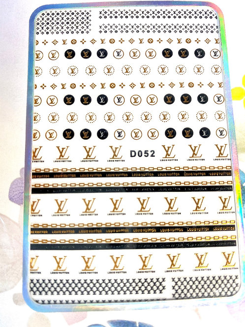 High End Luxury Chains Stickers (Gold & Black) (D052)