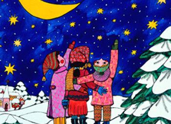 ''Viendo las estrellas en navidad''