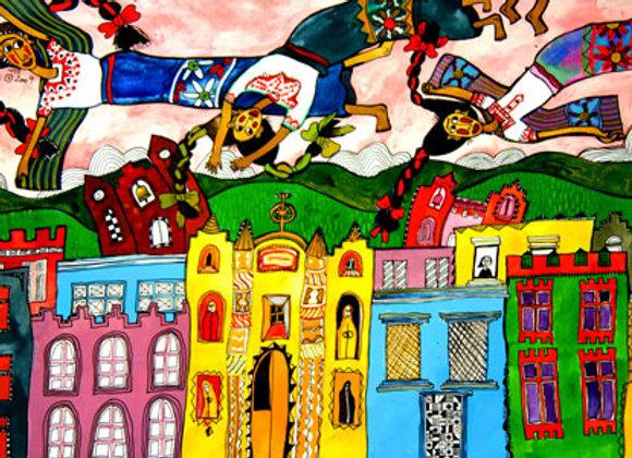 """""""Mujeres mayas bailan sobre nuestra ciudad"""""""