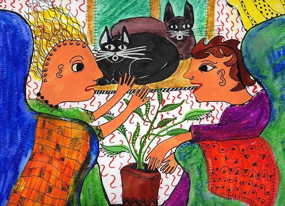 """The Therapist cat"""