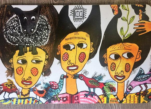 3 mujeres y borrego