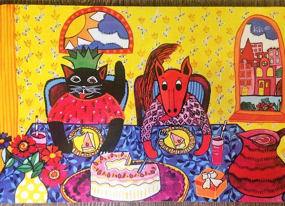 Me encanta el pastel de cumpleaños