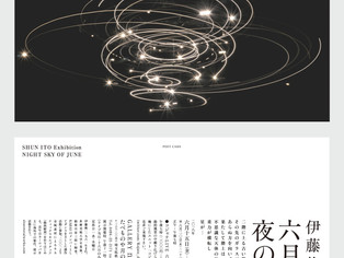 """Forthcoming exhibition                       """"NIGHT SKY OF JUNE"""""""