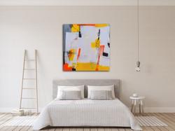 Bedroom and Modern Art