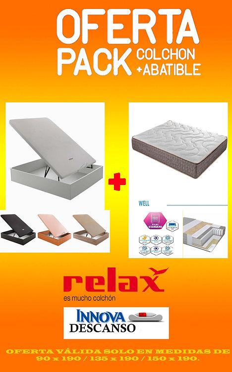 Pack Abatible + Colchón Relax mod. W E L L