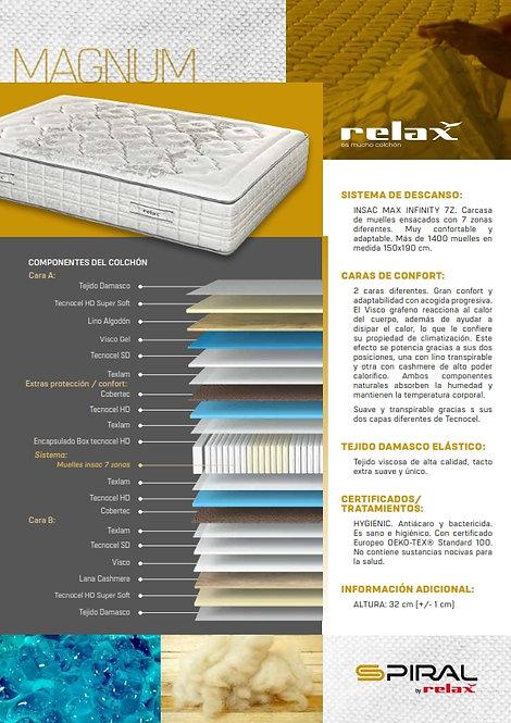 Colchón RELAX Mod. M A G N U N