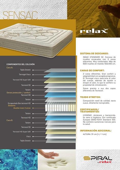 Colchón RELAX Mod. S E N S A C