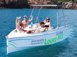 bateau sans permis déjeuner