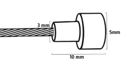 Bowden cable carton with bulb drawing dimensions