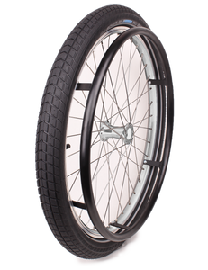 Outdoor Spoke Wheels with Schwalbe Big Ben for wheelchairs