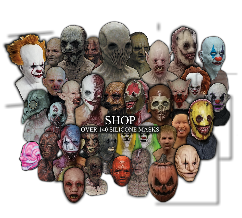 Shop all Silicone masks, silicone half masks, custom silicone masks, pennywise silicone masks, halloween silicone masks, silicone clown mask, silicone zombie mask, silicone fx, silicon mask, world leader in silicone masks, premium silicone masks, silicone fx, fx mask, haloween masks, high end silicone masks, silicone mask for haunted houses, human silicone masks, realistic silicone masks, siliocne masks, silicone mask,