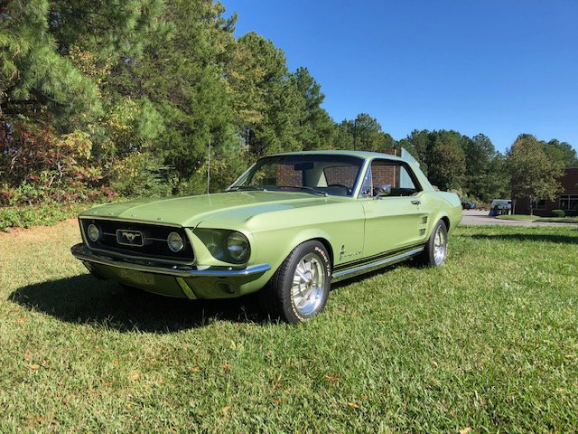 1967 Mustang Coupe 289 V8, 4 Speed Manual