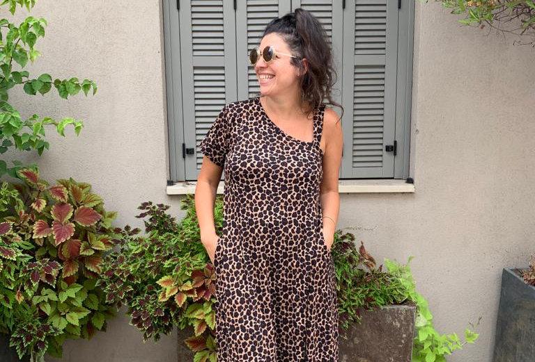 שמלת טרומפלדור - מנומר חום