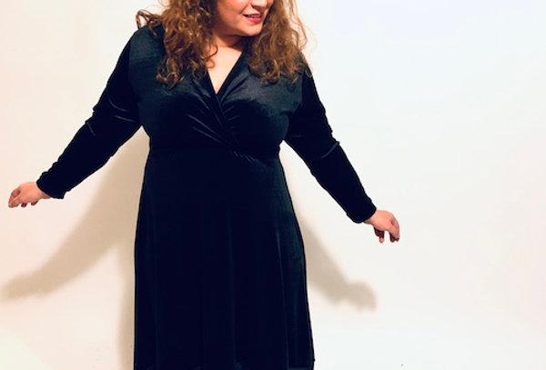שמלת למה מי אתה - קטיפה שחור