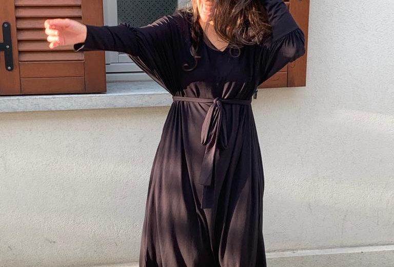 שמלת תראו תראו וי - שחור