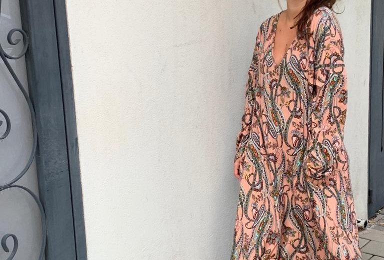 שמלת תכבסי לפעמים -אפרסק פייזלי
