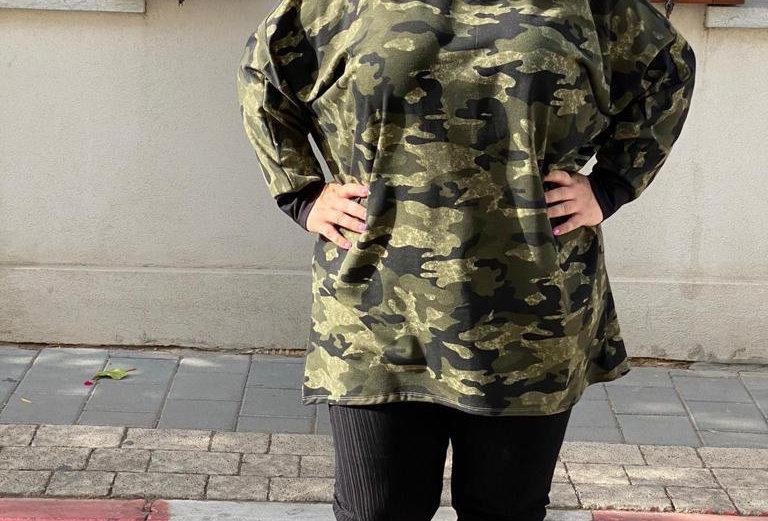 חולצת אובר דראפט - צבאי