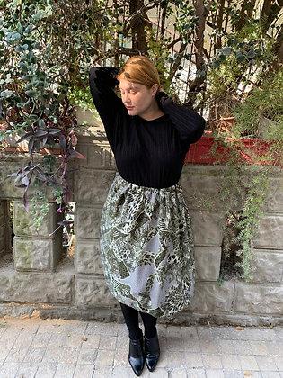 חצאית אל תציצו - ירוק מנוחש