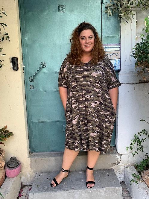 שמלת נאמבר וואן - צבאי חאקי