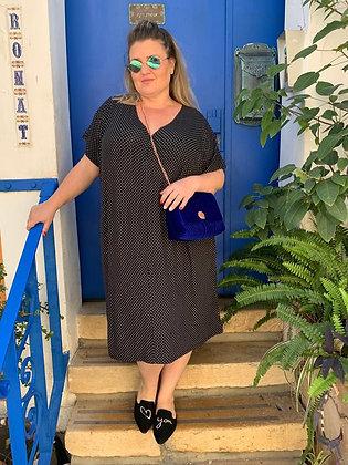 שמלת אלכוג׳ל מונאמור - שחור ריבועים