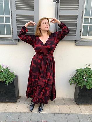 שמלת רווקוקו -ווש אדום טריקו