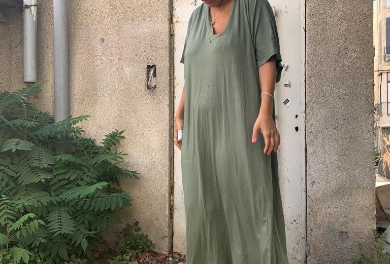 שמלת נעמולה פגום  - חאקי