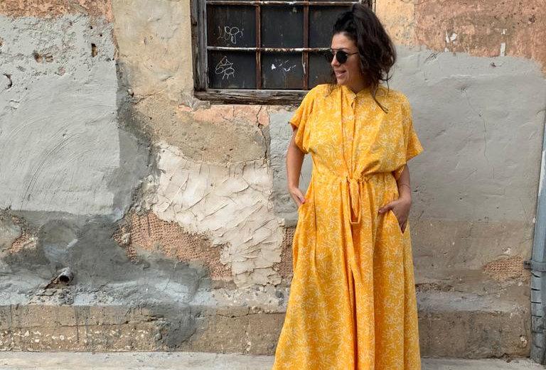 שמלת תראו אותה - צהוב לימון
