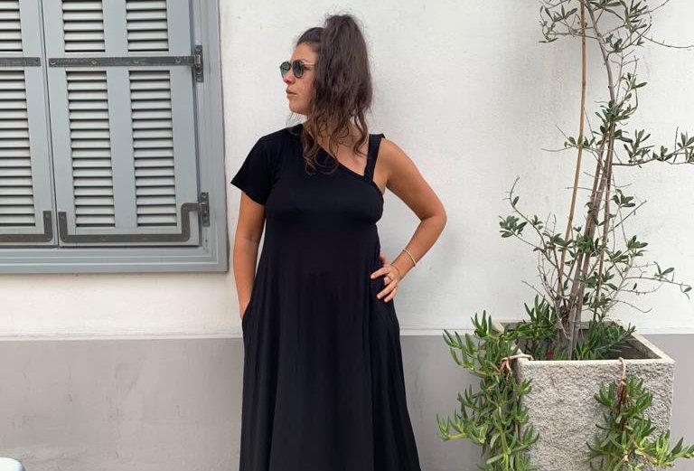 שמלת טרומפלדור - שחור
