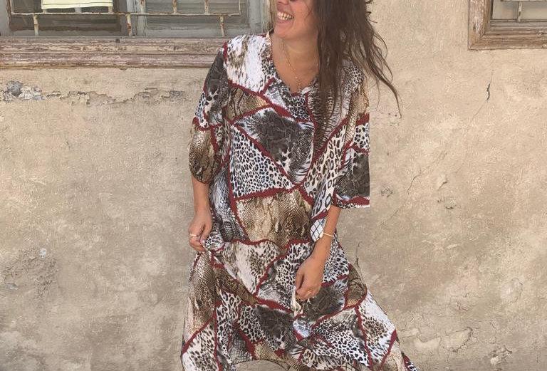 שמלת כמו באפריקה - טלאים זברה נחש