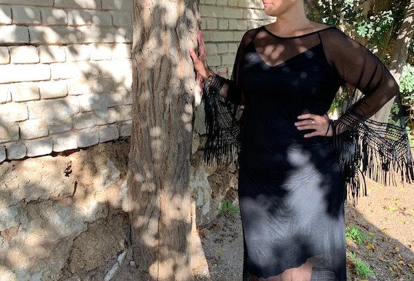 שמלת תתאהב בי - בוהו שיק שחור