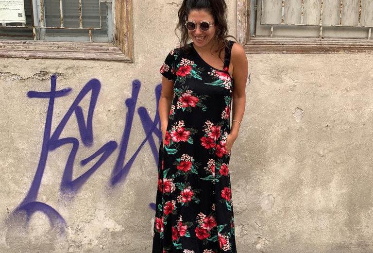 שמלת טרומפלדור - פרחוני הוואי