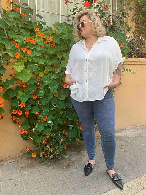 חולצת אייפל - לבן